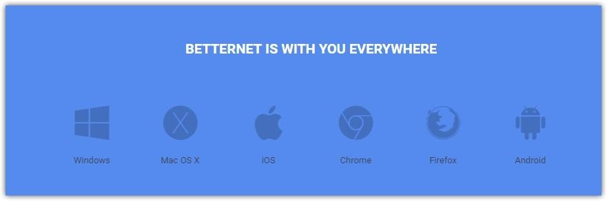 BetterNet бесплатный, быстрый VPN