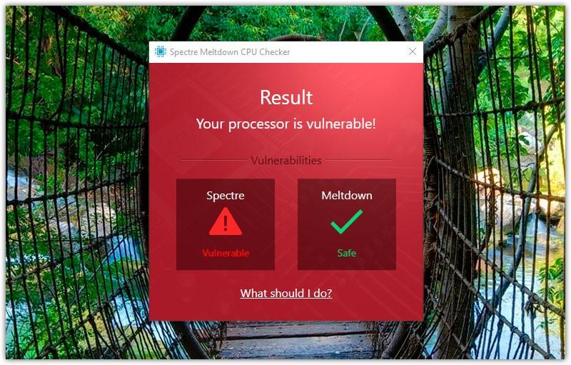 Проверить уязвимость Meltdown и Specter на Windows