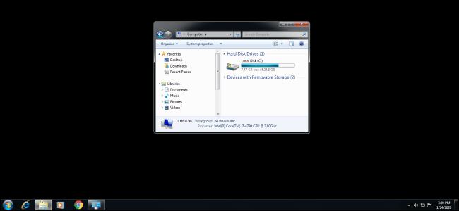 Как исправить черный рабочий стол на Windows 7